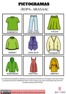 pictogramas ropa, plantillas de pictogramas, pictogramas arasaac, arasaac, pictogramas autismo