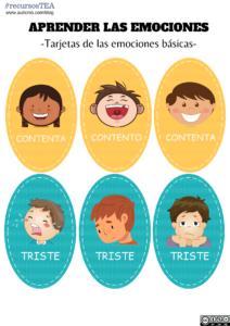fichas para trabajar las emociones, juegos de emociones para niños, actividades de emociones infantil, aprendizaje de emociones, las emociones en autistas, emociones autismo, recursos TEA, actividades para niños con autismo