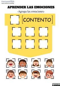 actividades para trabajar las emociones en TEA, emociones autismo, actividades de emociones autismo, pictogramas emociones, emociones TEA, aprender las emociones, TEA