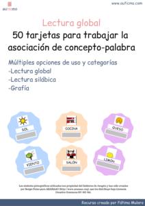 actividades para la lectura globa, aprendizaje infantil, recursos TEA, recursos autismo