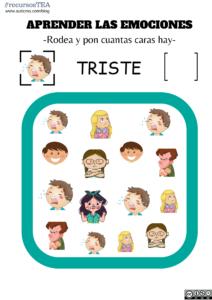 emociones TEA, emociones autistas, niños con autismo, como son los autistas, enseñar las emociones a autistas, recursos TEA, recursos autismo, auticmo blog