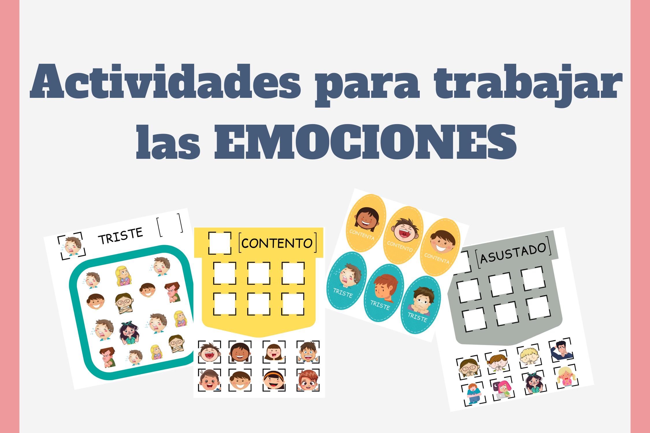 actividades para trabajar las emociones para niños con TEA