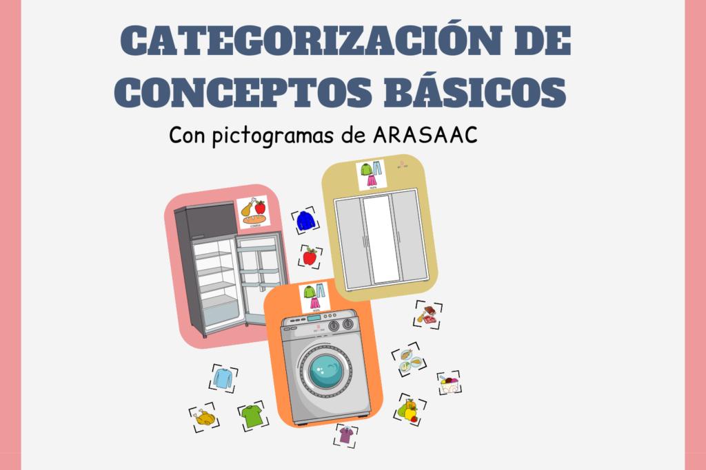 catgorizacion de objetos, aprender a categorizar, actividades con pictogramas de arasaac, pictogramas arasaac, recursos con pictogramas