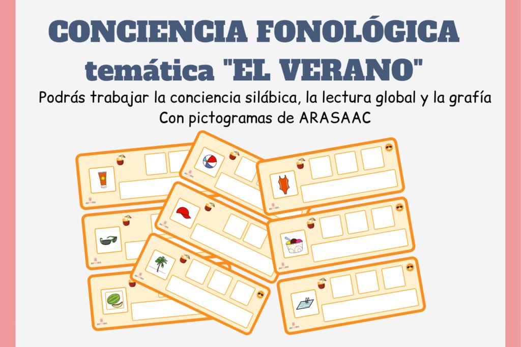 actividades conciencia fonológica, conciencia fonológica autismo, recursos TEA, actividades con pictogramas, descargar recursos con pictogramas, descargar actividades con pictogramas, recursos autismo