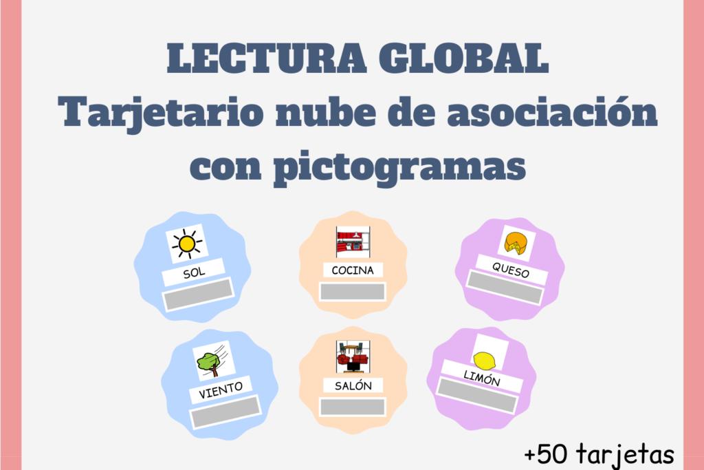 lectura global con pictogramas, actividades con pictogramas, pictogramas para niños con autismo, actividades para niños con autismo, aula TEA, recursos TEA