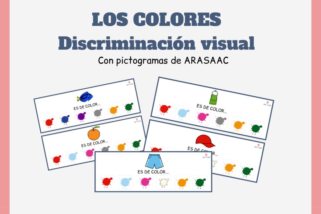 aprender los colores, enseñar los colores a niños con autismo, actividades para niños con autismo, actividades con pictogramas de arasaac, pictogramas arasaac