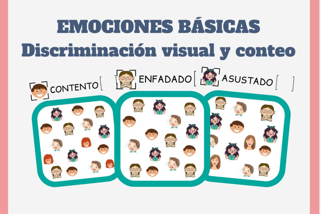 actividades para trabajar las emociones, enseñar las emociones a niños con autismo, actividades para niños con autismo, actividades con pictogramas descarga gratis, recursos autismo gratuitos